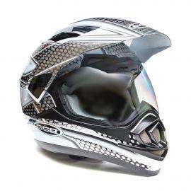 Шлем для снегохода GSB XP-14 A SNOW (с эл. визором) White/Black