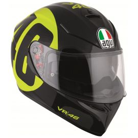 Мотошлем AGV K-3 SV Top Bollo 46 Black Yellow