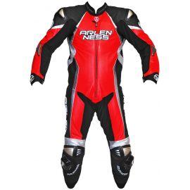 Мотокомбинезон ArlenNess Red-Black-White-Chrome (кожа кенгуру)
