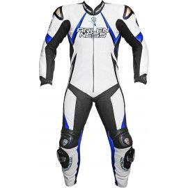 Мотокомбинезон ArlenNess White-Blue-Black (кожа быка)