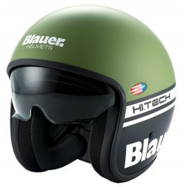 Мотошлем Blauer H.T. Pilot 1.1. Black Green Matt