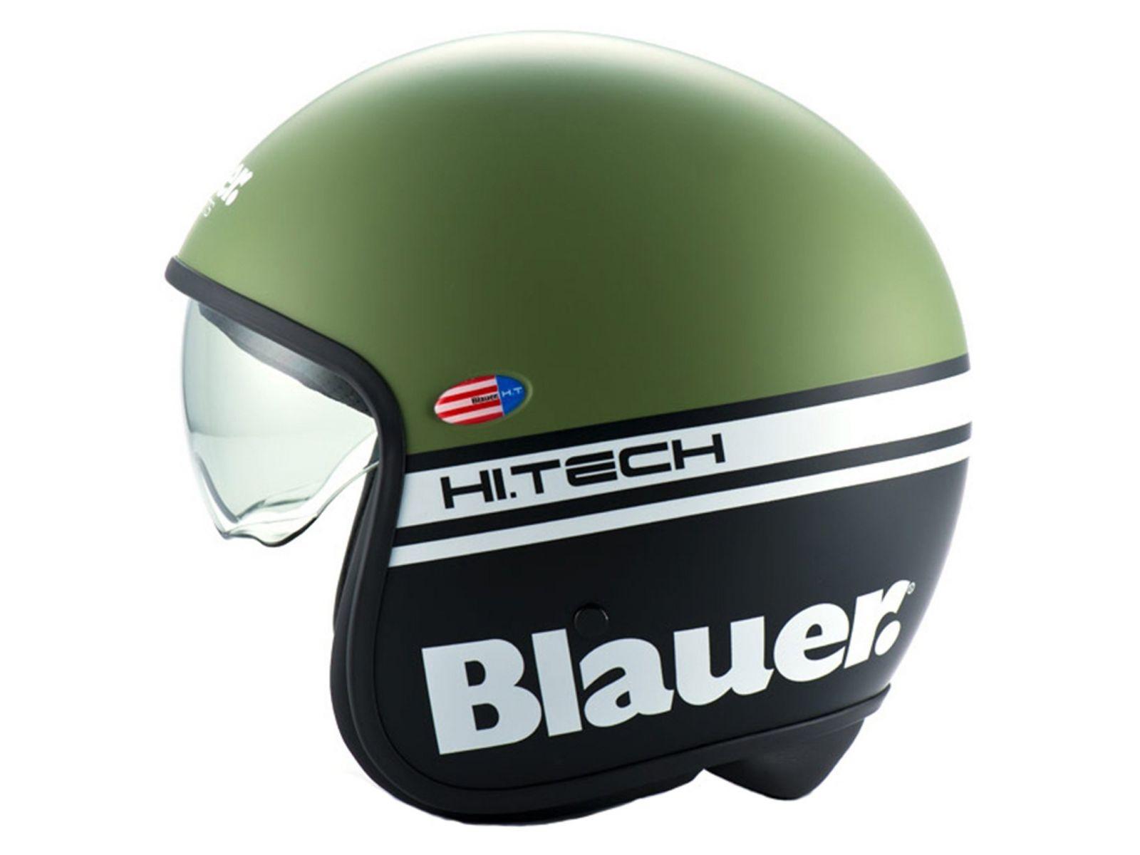Мотошлем Blauer H.T. Pilot 1.1. Black Green Matt