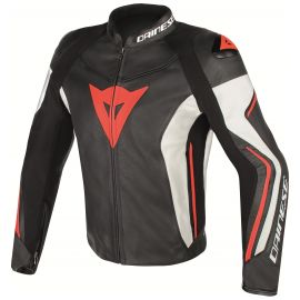 Мотокуртка Dainese Assen Black White Red