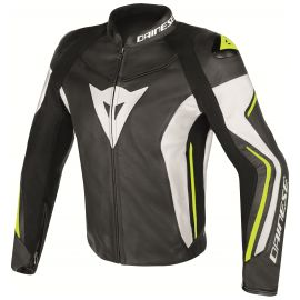 Мотокуртка Dainese Assen Black White Yellow