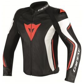 Мотокуртка Dainese Assen Perforated Black White Red