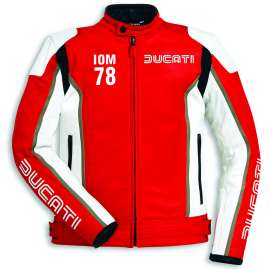 Мотокуртка Ducati IOM78 С1 Red White Jacket