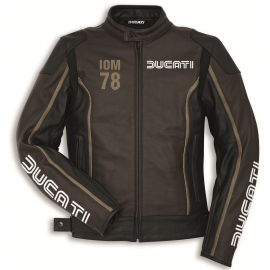 Мотокуртка Ducati IOM78 С1 Perforated Black Brown Jacket