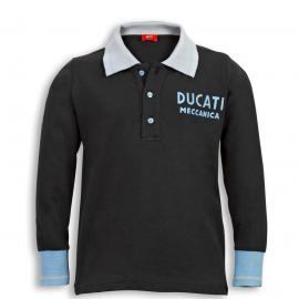 Футболка-поло с длинными рукавами детская Ducati Retro Polo-Shirt Kid