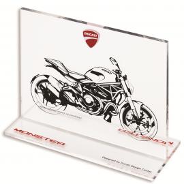 Эскиз мотоцикла Ducati Monster