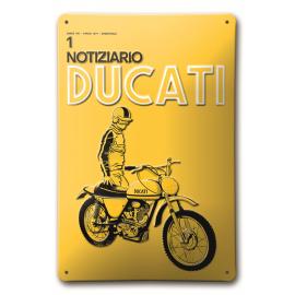 Металлический знак Ducati Notiziario