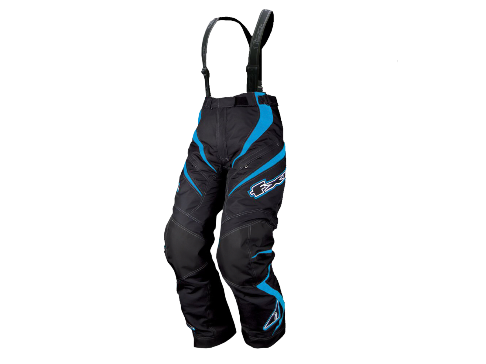 Снегоходные брюки женские FXR NITRO GIRL WOMEN Black/Cyan