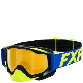 Очки снегоходные FXR CORE 20 Hi Vis/Blue