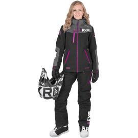 Снегоходный комбинезон женский FXR ELEVATION LITE DRI-LINK 2pc 19 Blk/Char/Fuchsia