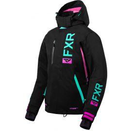 Снегоходная куртка женская FXR EVO FX 20 Lady Black/Mint/Elec Pink