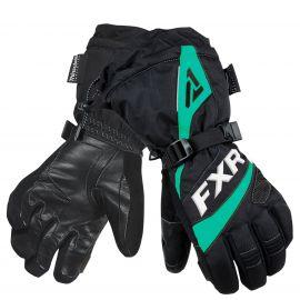 Перчатки снегоходные женские FUSION LADY 19 Black/Mint