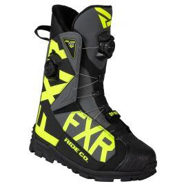 Снегоходные ботинки FXR HELIUM PRO BOA Boot 20 Black/Char/Hi Vis