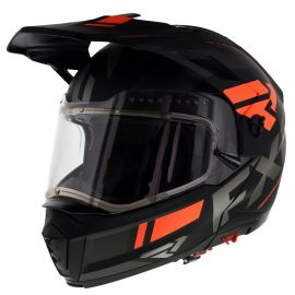 Шлем для снегохода FXR MAVERICK MODULAR TEAM 20 (визор с подогревом) Black/Char/Orange