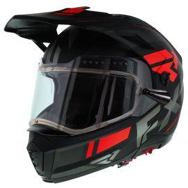 Шлем для снегохода FXR MAVERICK MODULAR TEAM 20 (визор с подогревом) Black/Char/Red