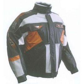 FXR Кожаная мотокуртка OCTANE LEATHER Black/Antracite/Orange