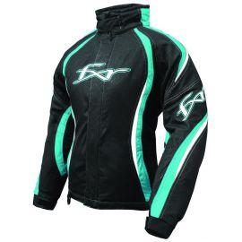 Снегоходная куртка женская FXR TEMPT Black/Cyan