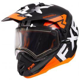 Шлем для снегохода FXR TORQUE X EVO 20 (визор с подогревом) Black/Orange/Char