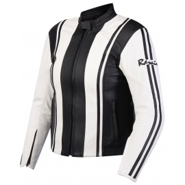 Куртка женская REWIN STRIPES white-black