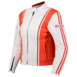 Куртка женская REWIN STRIPES white-red