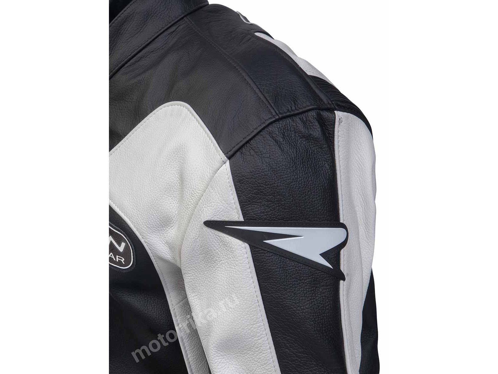 Мотокомбинезон Rewin Touring Div Black-white (кожа быка)