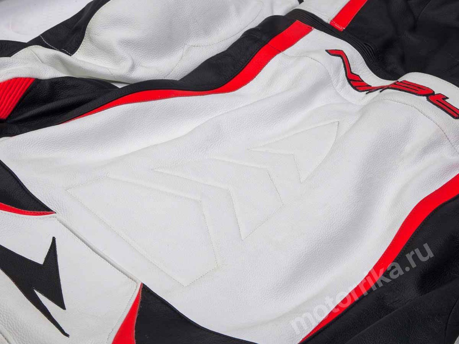 Мотокомбинезон Rewin Touring Div Red-white-black (кожа быка)