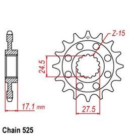 Звезда передняя для Ducati Panigale 1199 12-15, Panigale 1299 15-17, Panigale R 15-17