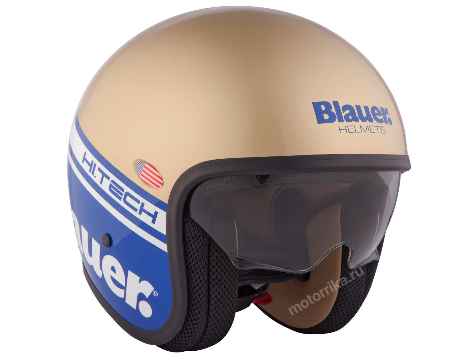 Мотошлем Blauer H.T. Pilot Cips Blue/Gold