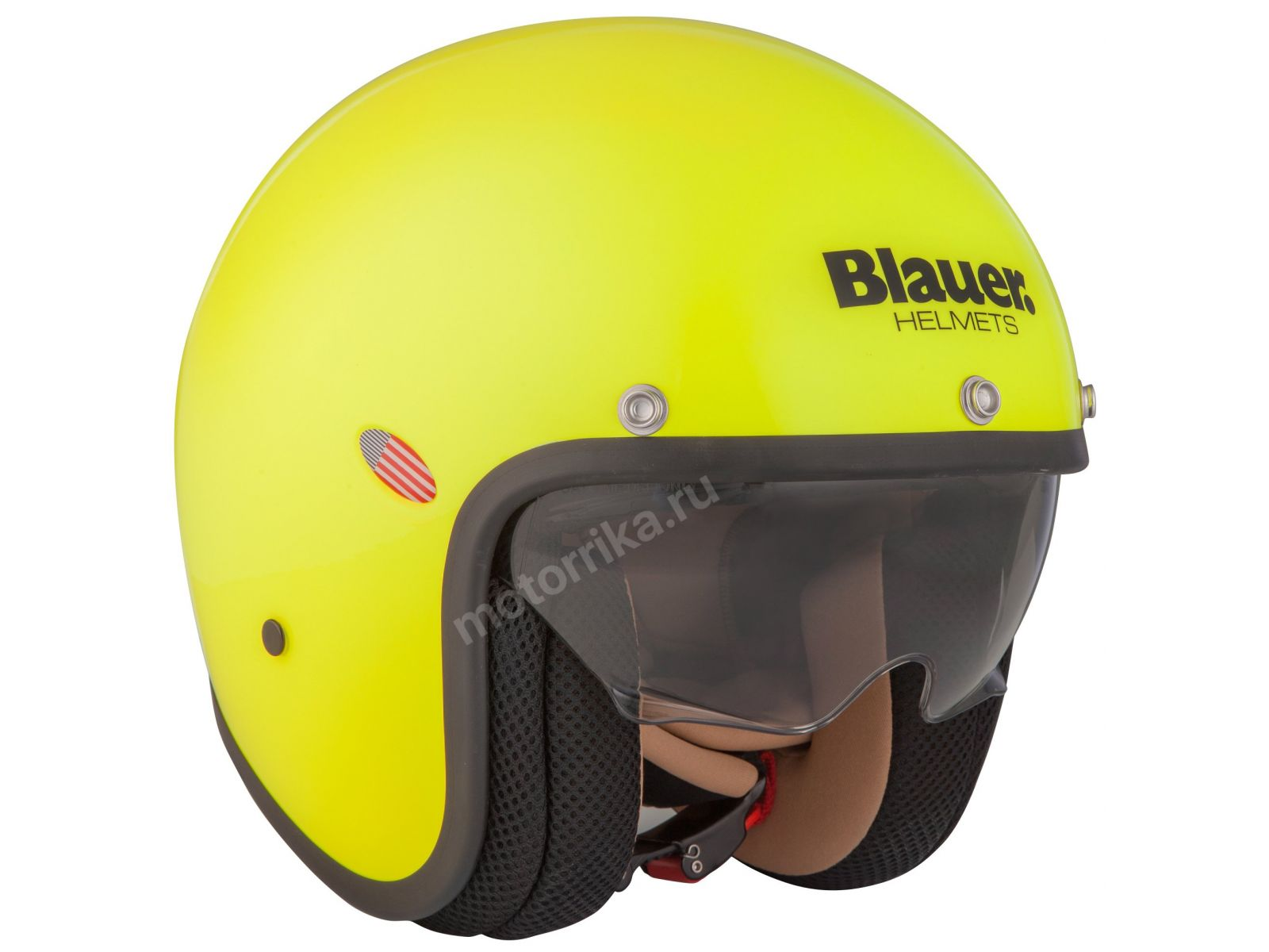 Мотошлем Blauer H.T. Pilot Plus Fluo Yellow Matt