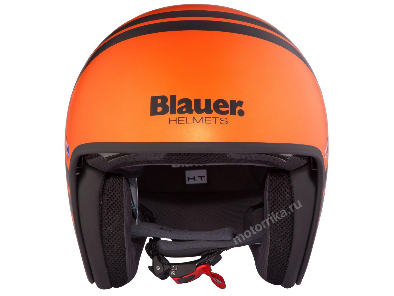 Мотошлем Blauer H.T. Pilot 2.0. Orange Matt