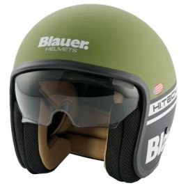 Мотошлем Blauer H.T. Pilot Green/Black Matt