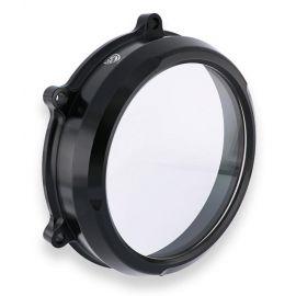 Крышка сцепления прозрачная CNC RACING CA210B Black для Ducati Panigale V4 18-20