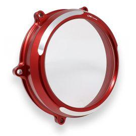 Крышка сцепления прозрачная CNC RACING CA210RS Red/Silver для Ducati Panigale V4 18-20