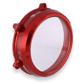 Крышка сцепления прозрачная CNC RACING CA210R Red для Ducati Panigale V4 18-20