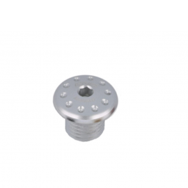 Заглушка отверстия под зеркало CNC RACING MRA12S М10 Silver (левая)