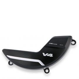 Защита крышки сцепления CNC RACING PR310BS Black/Silver для Ducati Panigale V4 18-20