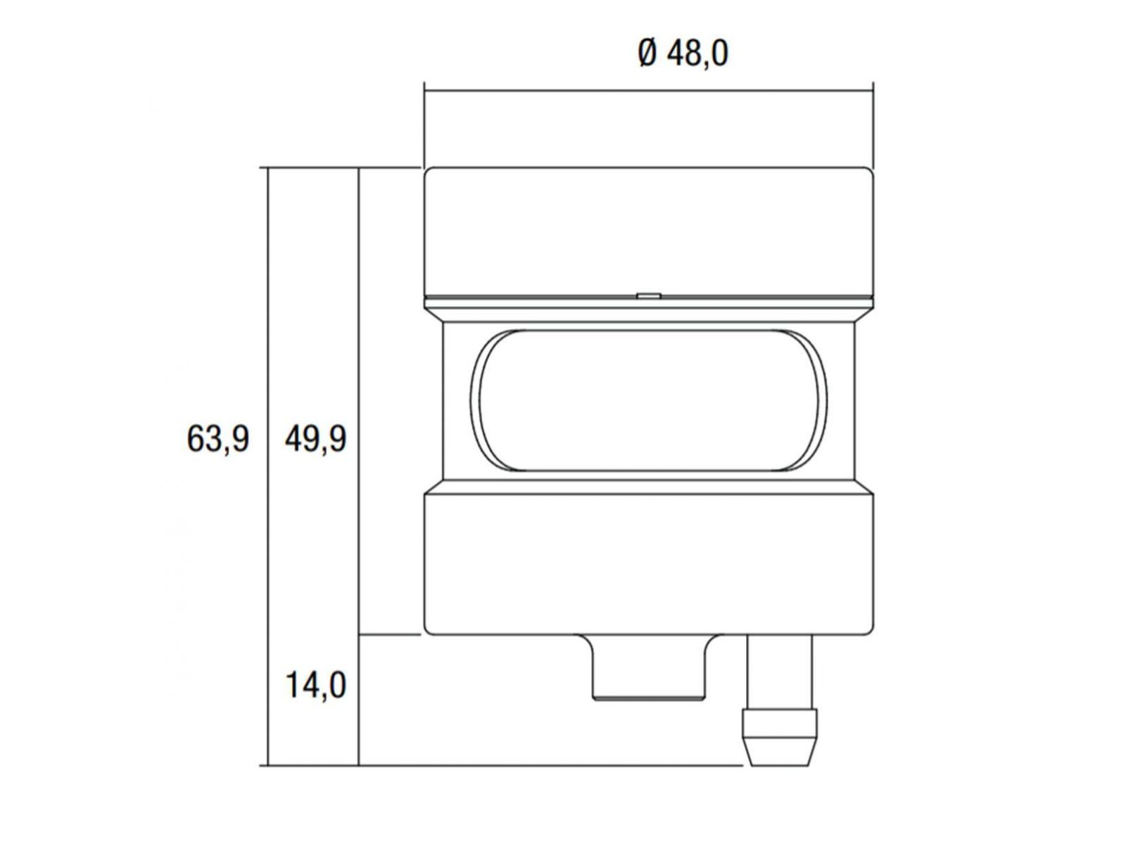 Передний тормозной бачок LighTech OBT001NER Black 31см3