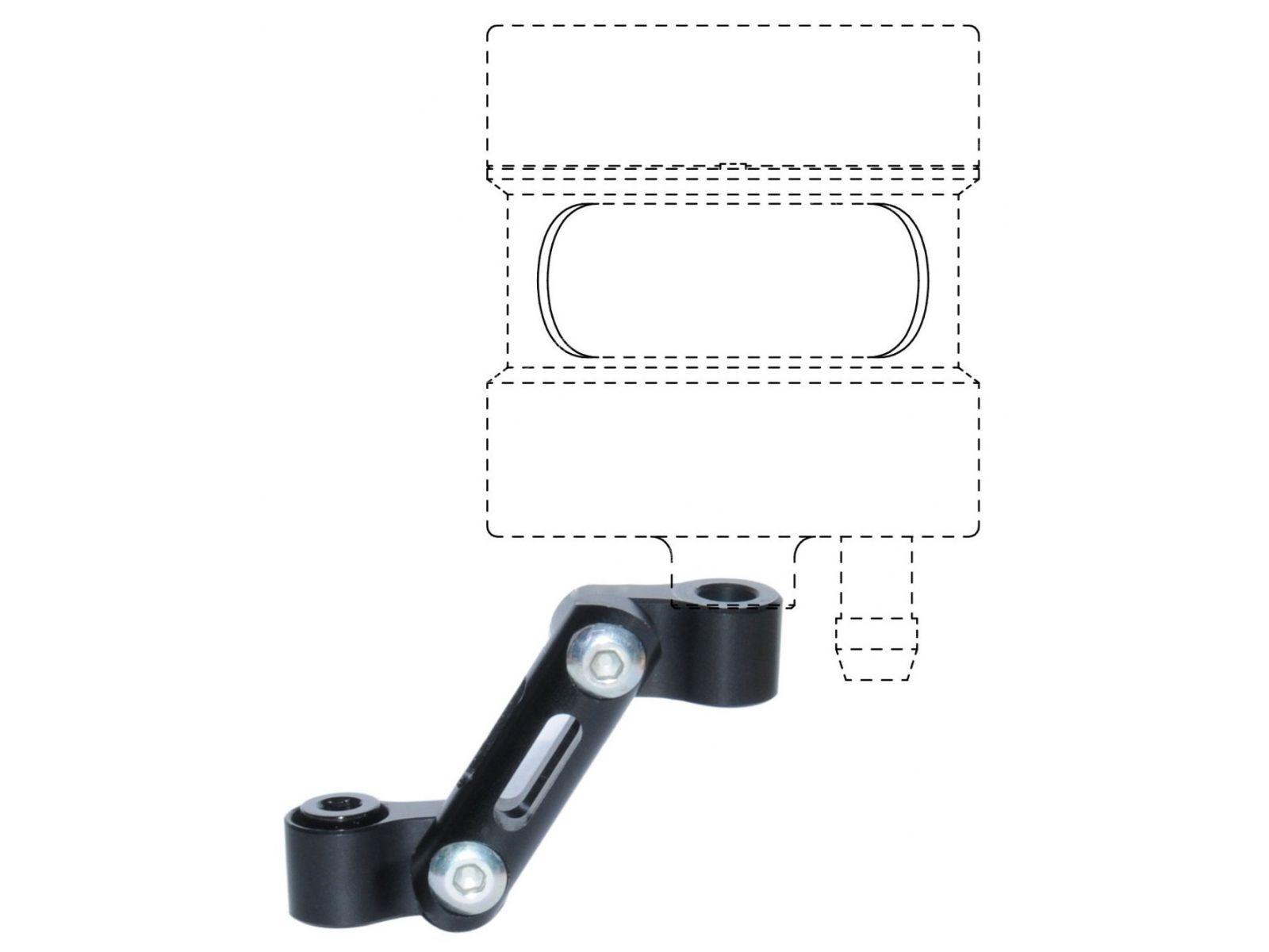 Кронштейн тормозного бачка Lightech OBT003NER Black