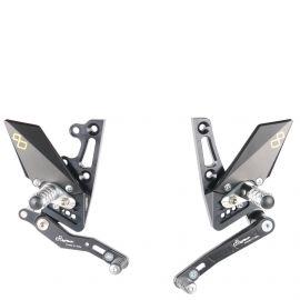 Комплект регулируемых подножек Lightech для Triumph Speed Triple 1050/R 11-18