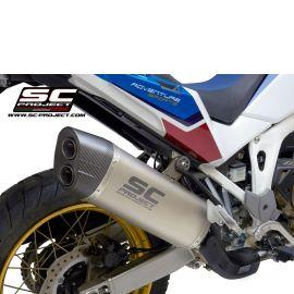 Глушитель SC Project Slip-On ADVENTURE титан карбон Honda CRF1000L Africa Twin 16-19