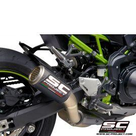 Глушитель SC Project Slip-On CR-T карбон титановая сетка для Kawasaki Z900 20