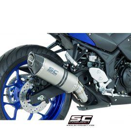 Глушитель SC Project Slip-On Oval карбон для Yamaha R3 15-17