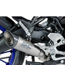 Выхлопная система SC Project  S1 сталь титан карбон для Yamaha Tracer 900 17-20