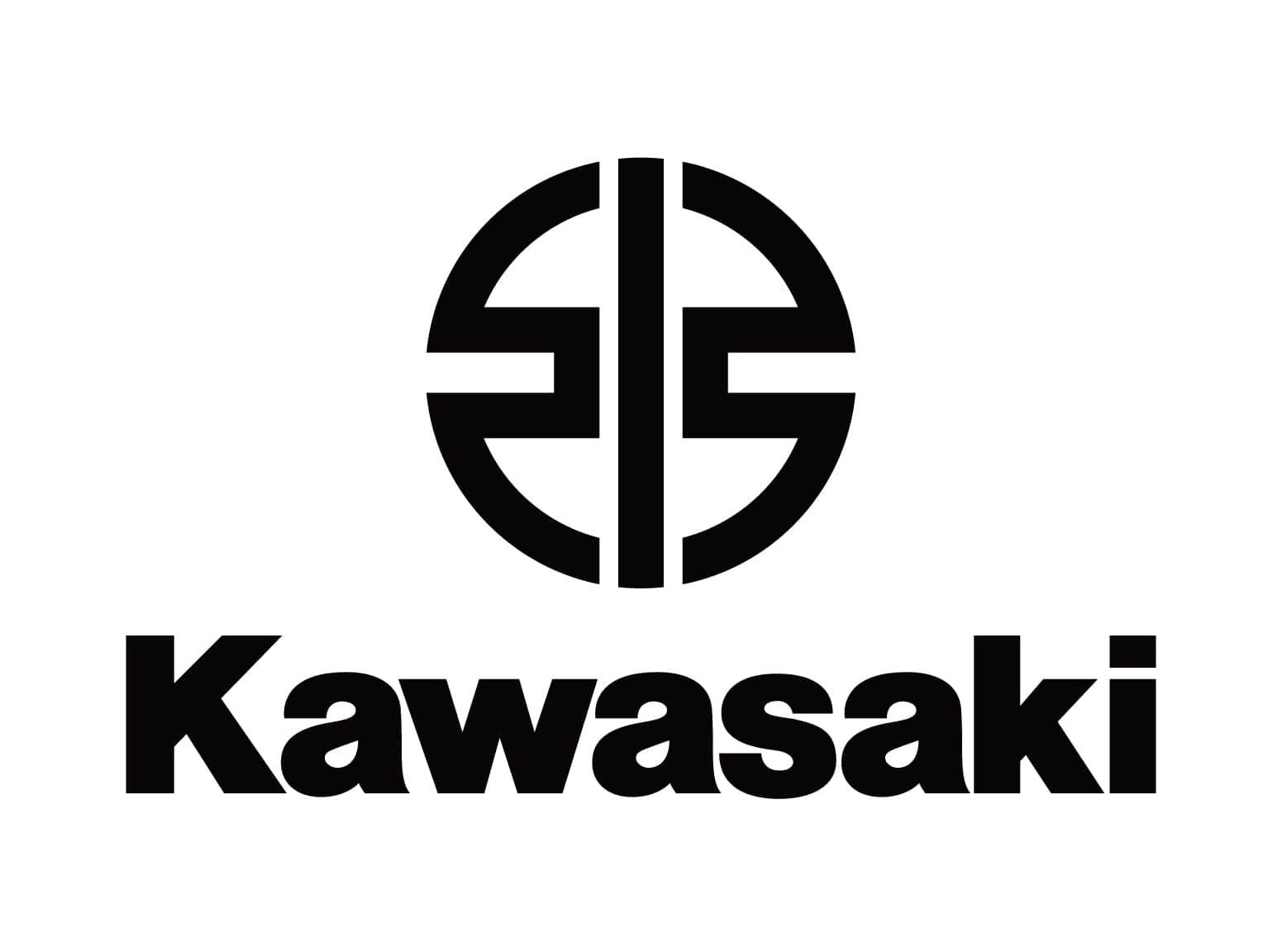 Фото официального логотипа компании KAWASAKI