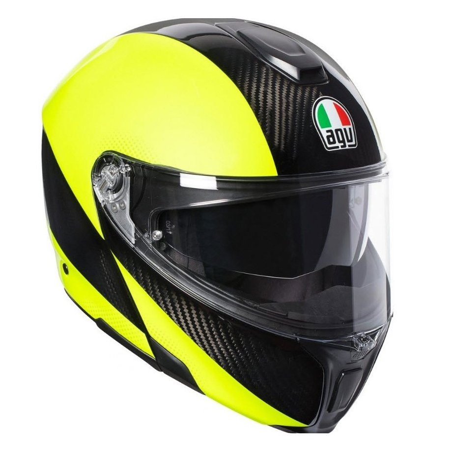 Мотошлем AGV Sportmodular Multi Hi-Vis Carbon Yellow