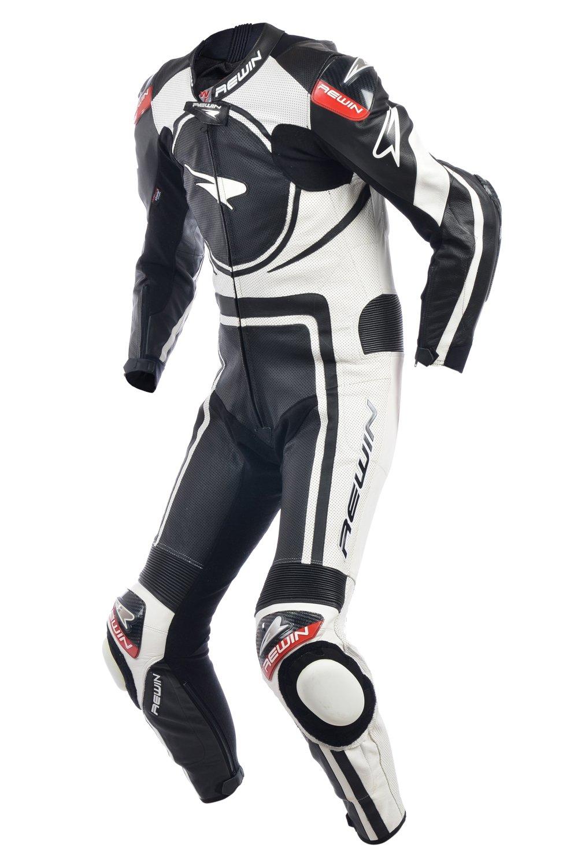 Мотокомбинезон Rewin Battery Black-white (кожа кенгуру)
