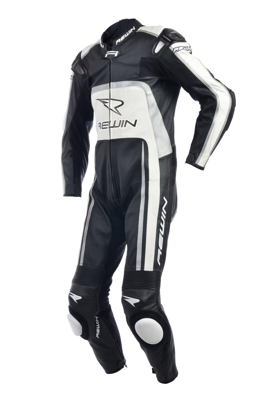 Мотокомбинезон Rewin Mig Black-grey-white (кожа быка)